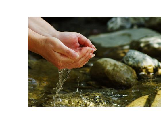 wasser quelle in der natur